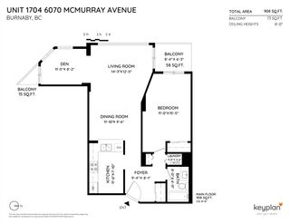 Photo 20: 1704 6070 MCMURRAY AVENUE in Burnaby: Forest Glen BS Condo for sale (Burnaby South)  : MLS®# R2442075