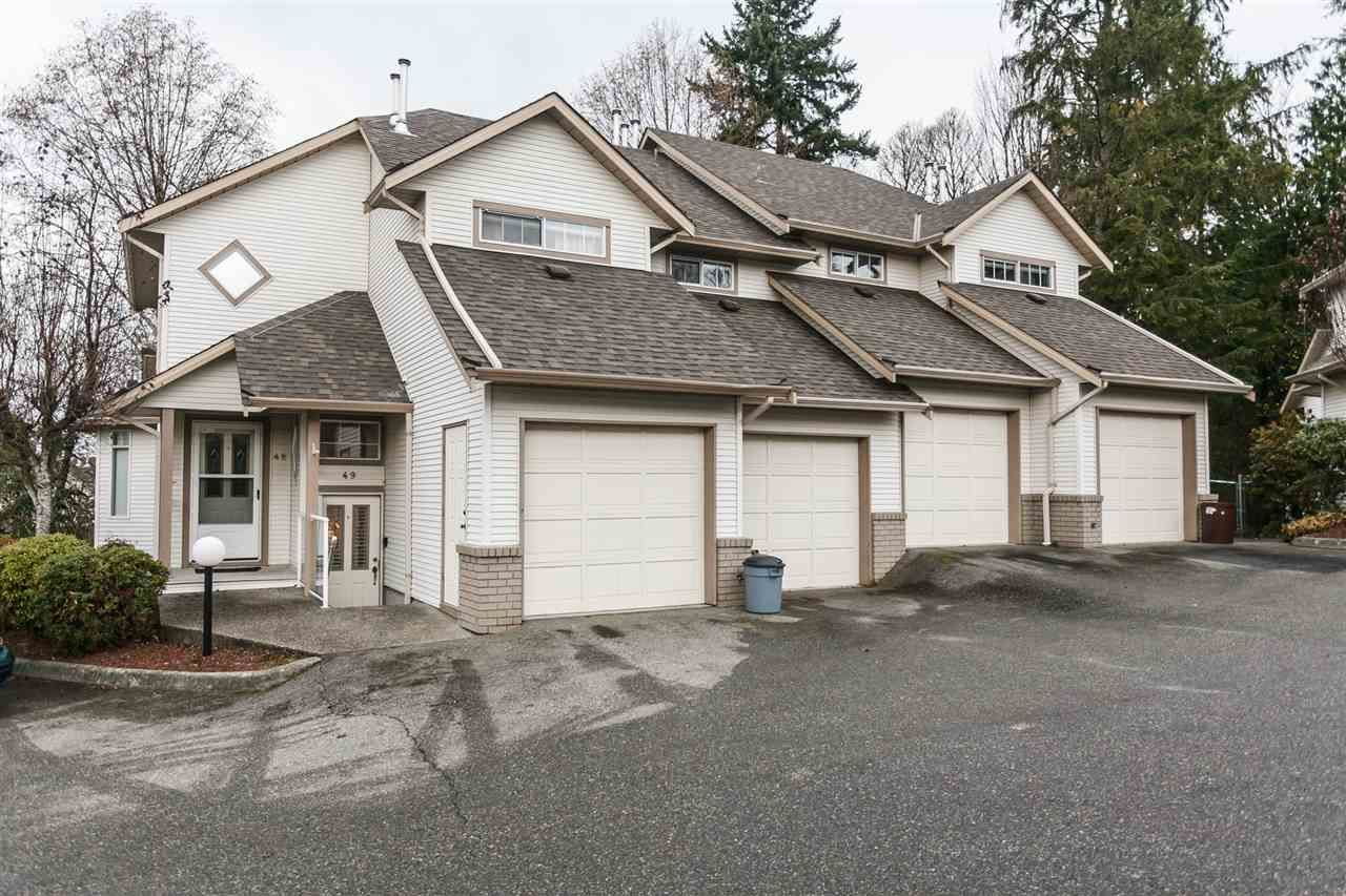 Main Photo: 49 32361 MCRAE AVENUE in Mission: Mission BC Townhouse for sale : MLS®# R2018842