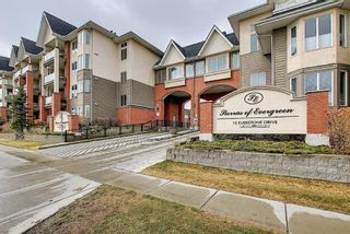 Photo 1: 447 15 Everstone Drive SW in Calgary: Evergreen Apartment for sale : MLS®# A1097089