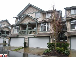 Photo 1: 30 6050 166TH Street in Surrey: Cloverdale BC Townhouse for sale (Cloverdale)  : MLS®# F1207927