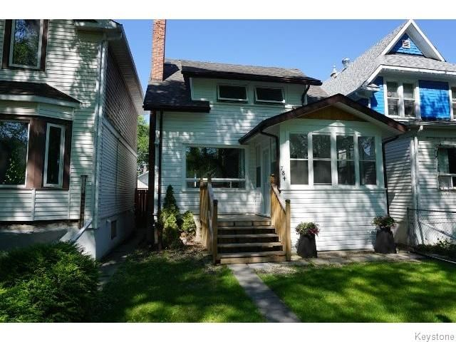 Main Photo: 784 Ingersoll Street in WINNIPEG: West End / Wolseley Residential for sale (West Winnipeg)  : MLS®# 1516601