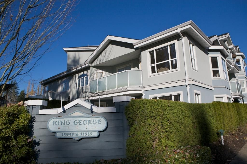 "Main Photo: 103 13939 LAUREL Drive in Surrey: Whalley Condo for sale in ""KING GEORGE MANOR"" (North Surrey)  : MLS®# R2421170"