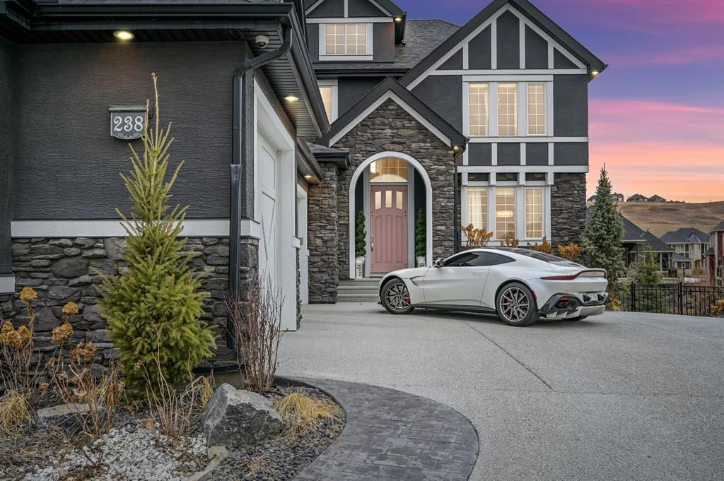Tudor style home with triple garage