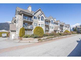 """Photo 1: 210 1466 PEMBERTON Avenue in Squamish: Downtown SQ Condo for sale in """"MARINA ESTATES"""" : MLS®# R2590030"""