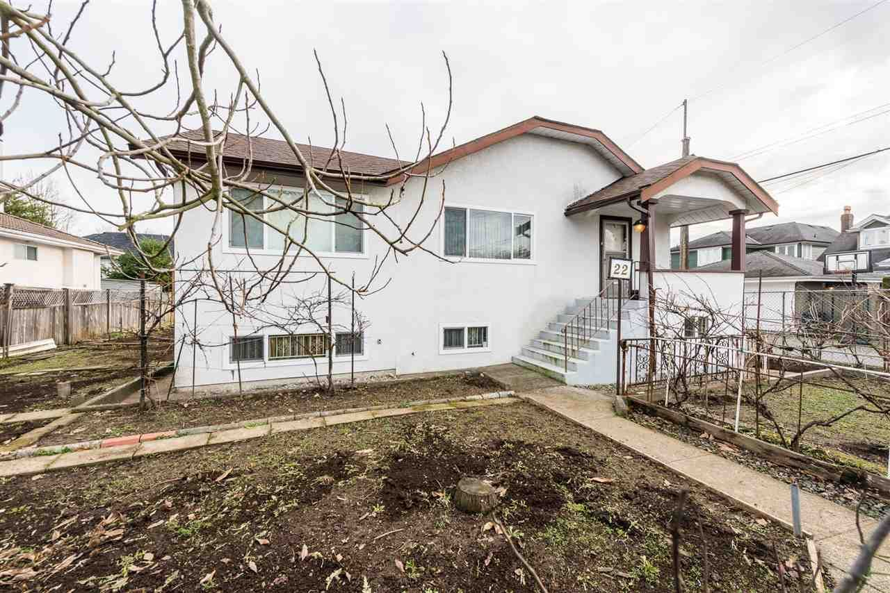 Main Photo: 22 MACDONALD Avenue in Burnaby: Vancouver Heights House for sale (Burnaby North)  : MLS®# R2337869