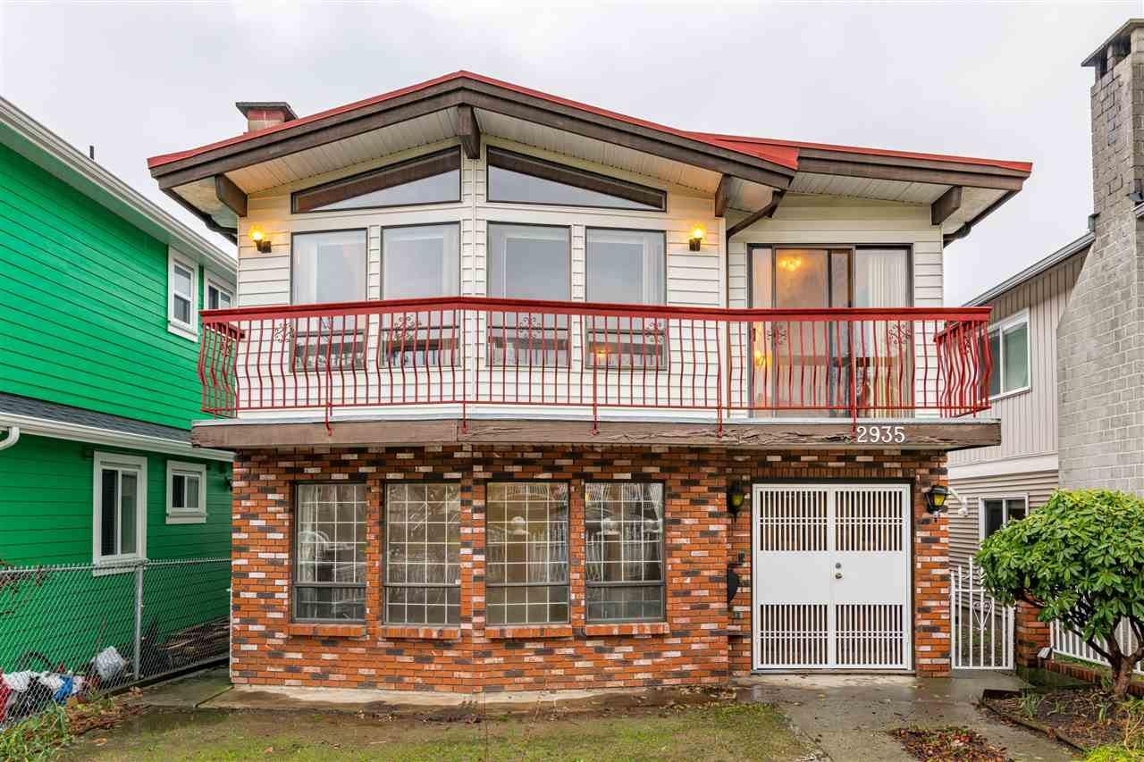 Main Photo: 2935 E 3RD Avenue in Vancouver: Renfrew VE House for sale (Vancouver East)  : MLS®# R2523751