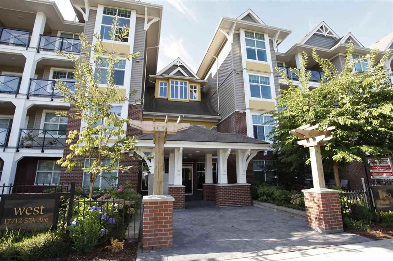 """Main Photo: 207 17712 57A Avenue in Surrey: Cloverdale BC Condo for sale in """"West On The Village Walk"""" (Cloverdale)  : MLS®# R2260397"""