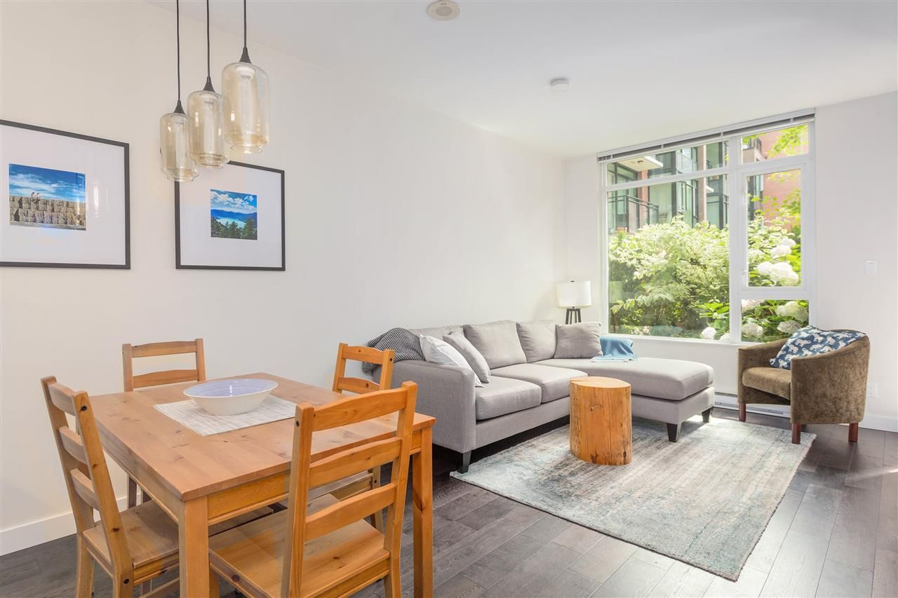 """Main Photo: 102 2321 SCOTIA Street in Vancouver: Mount Pleasant VE Condo for sale in """"Social"""" (Vancouver East)  : MLS®# R2477801"""