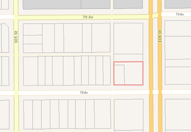 Main Photo: 7806 Street & 10416 78 Ave in Edmonton: Land for sale (Out of Town)