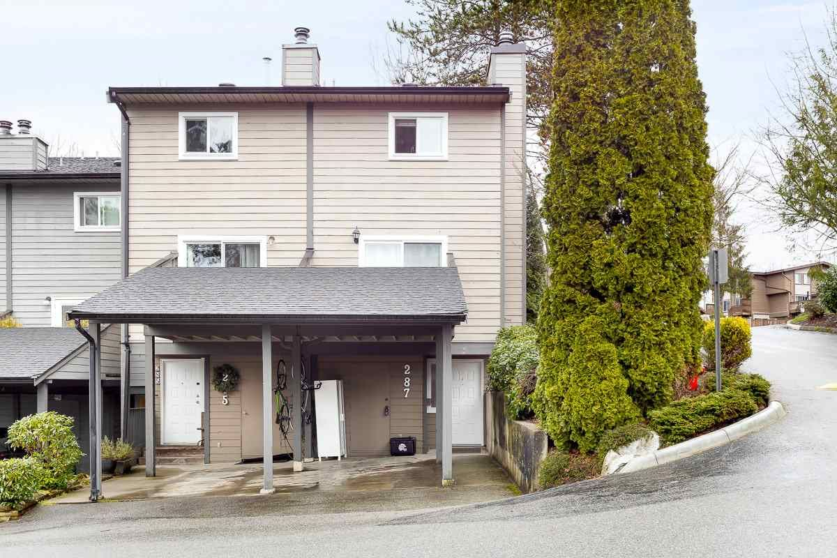 """Main Photo: 287 BALMORAL Place in Port Moody: North Shore Pt Moody Townhouse for sale in """"BALMORAL PLACE"""" : MLS®# R2538188"""