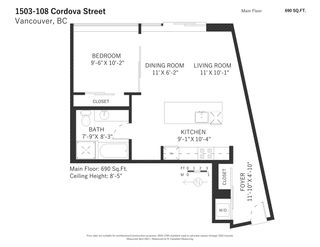 """Photo 18: 1503 108 W CORDOVA Street in Vancouver: Downtown VW Condo for sale in """"Woodwards"""" (Vancouver West)  : MLS®# R2571397"""