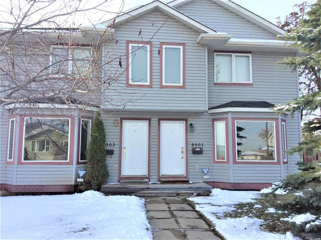 Main Photo: 8003 25 Street SE in Calgary: Ogden Semi Detached for sale : MLS®# A1079774