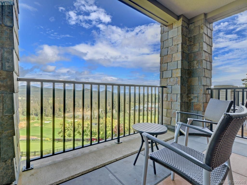 View of golf course and mountains from your own private deck