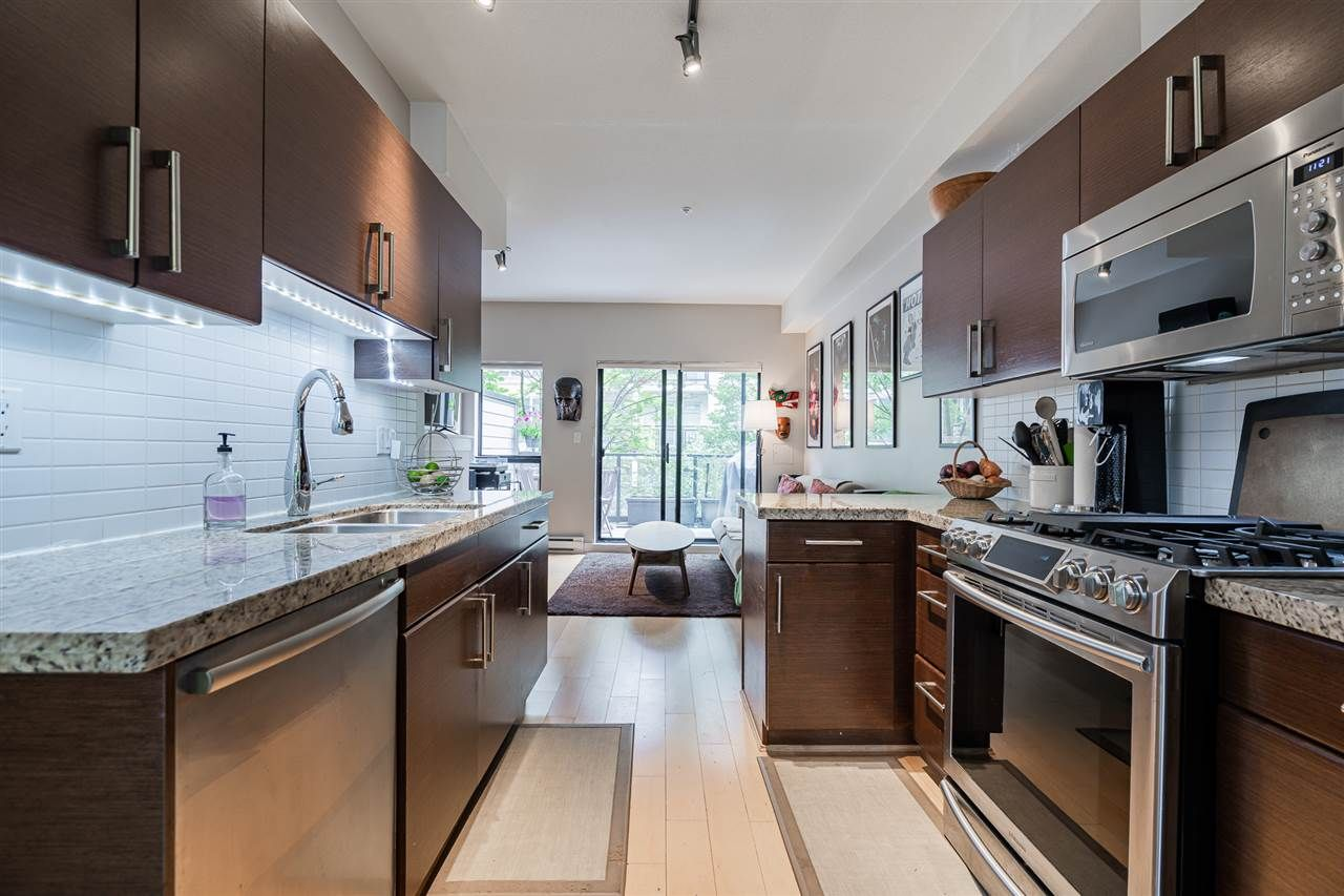 """Main Photo: 114 1859 STAINSBURY Avenue in Vancouver: Victoria VE Townhouse for sale in """"The Works"""" (Vancouver East)  : MLS®# R2470513"""