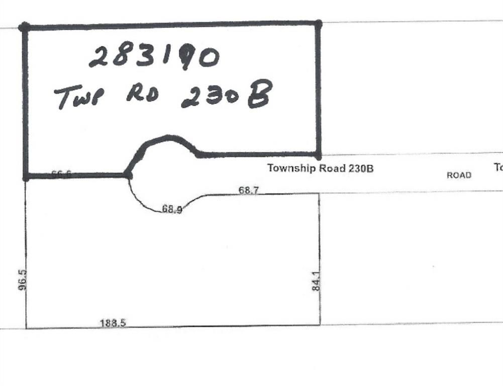 Main Photo: 283190 Township Road 230B Township in Rural Rocky View County: Rural Rocky View MD Residential Land for sale : MLS®# A1069404