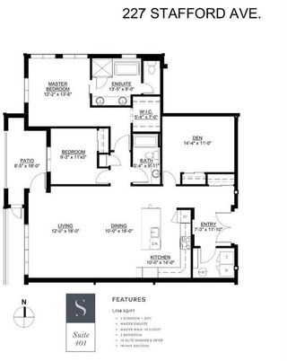 Photo 3: 401 227 Stafford Avenue in Winnipeg: Crescentwood Condominium for sale (1B)  : MLS®# 202123558