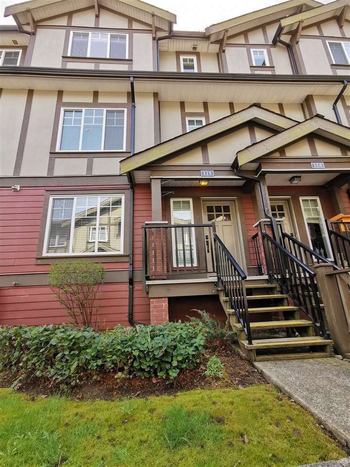 "Main Photo: 115 3333 DEWDNEY TRUNK Road in Port Moody: Port Moody Centre Townhouse for sale in ""CENTREPOINT"" : MLS®# R2561726"
