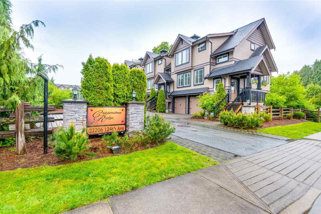 """Main Photo: 10 22206 124 Avenue in Maple Ridge: West Central Townhouse for sale in """"Copperstone Ridge"""" : MLS®# R2562378"""