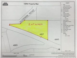 Photo 1: 4827 Goodwin Road in Eagle Bay: Vacant Land for sale : MLS®# 10116745