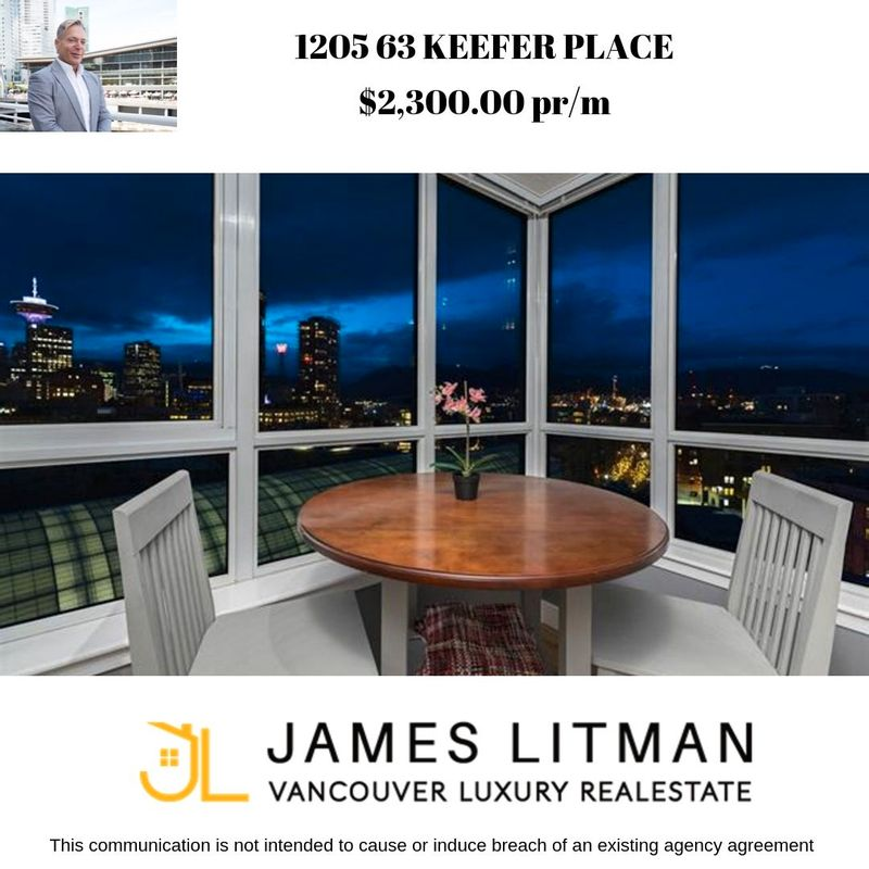 FEATURED LISTING: 1205 - 63 Keefer Place Vancouver