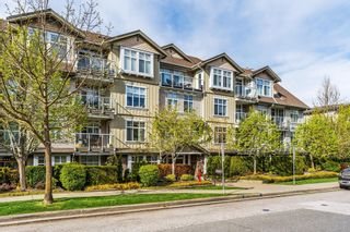 "Photo 1: 406 15323 17A Avenue in Surrey: King George Corridor Condo for sale in ""Semiahmoo Place"" (South Surrey White Rock)  : MLS®# R2571270"