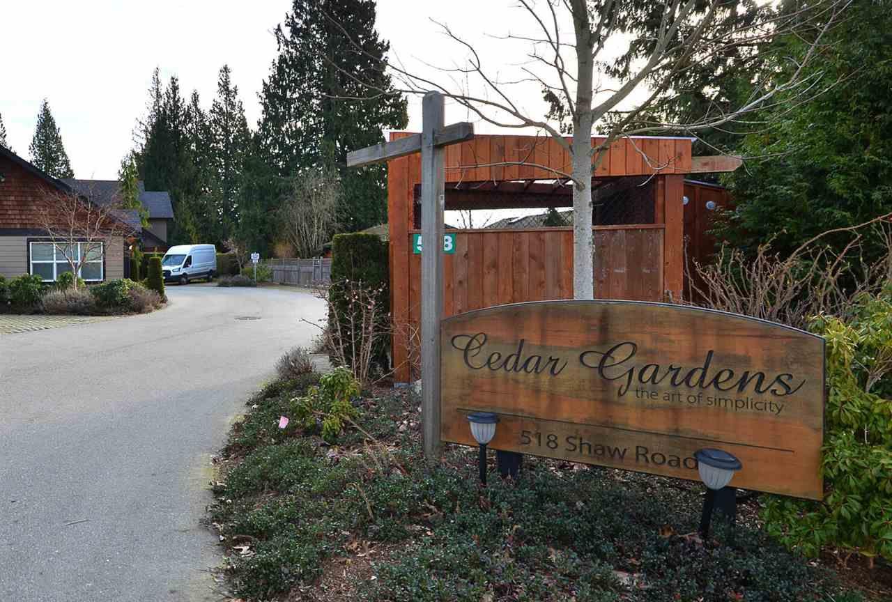 Entrance to Cedar Gardens