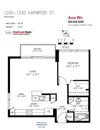 """Photo 13: 1205 1330 HARWOOD Street in Vancouver: West End VW Condo for sale in """"Westsea Towers"""" (Vancouver West)  : MLS®# R2468963"""