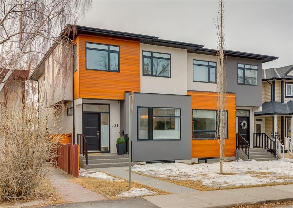 Main Photo: 531 53 Avenue SW in Calgary: Windsor Park Semi Detached for sale : MLS®# A1084315