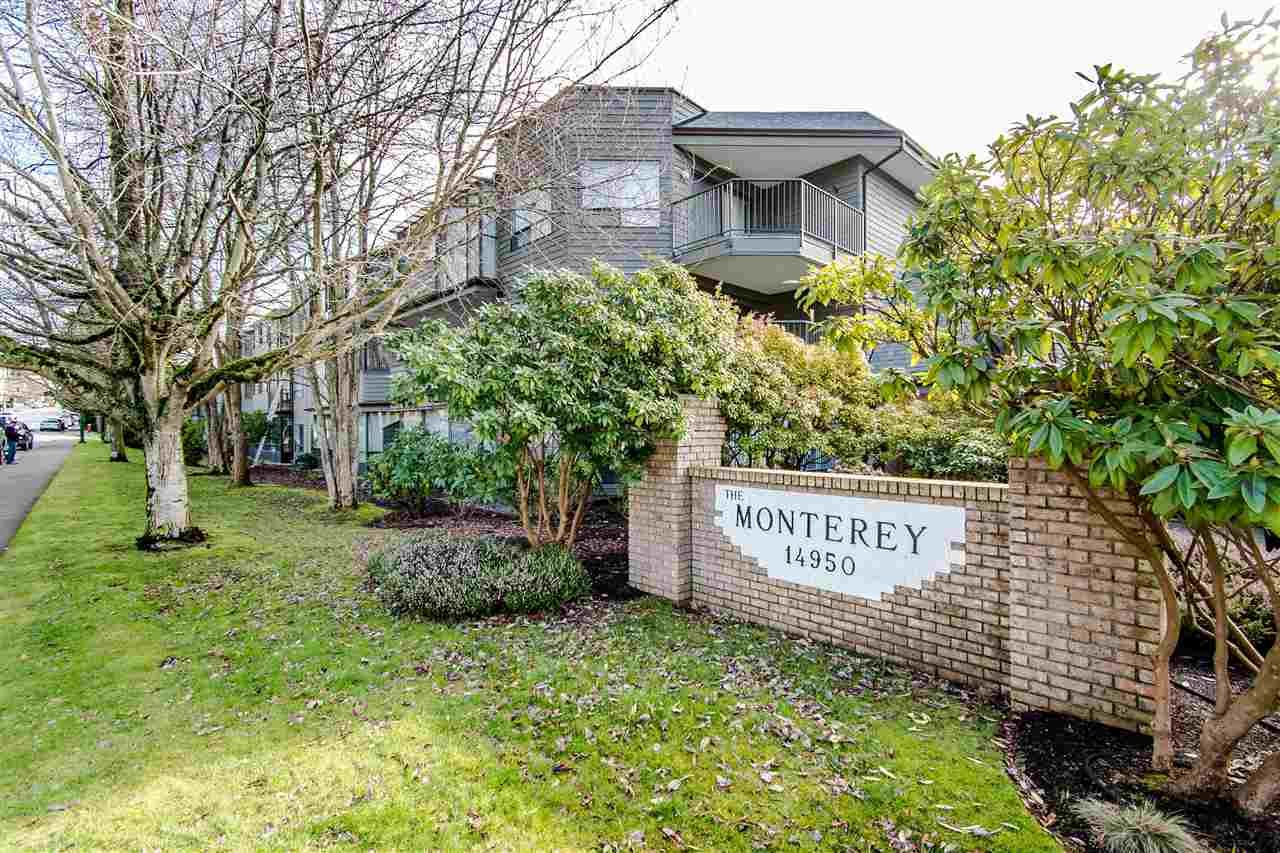 "Main Photo: 108 14950 THRIFT Avenue: White Rock Condo for sale in ""THE MONTEREY"" (South Surrey White Rock)  : MLS®# R2432223"