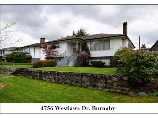 """Photo 1: 4756 WESTLAWN Drive in Burnaby: Brentwood Park House for sale in """"Brentwood Park"""" (Burnaby North)  : MLS®# V1059724"""