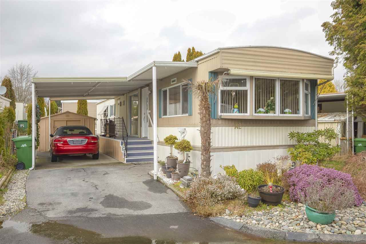 Main Photo: 142 1840 160 STREET in : King George Corridor Manufactured Home for sale : MLS®# R2440942