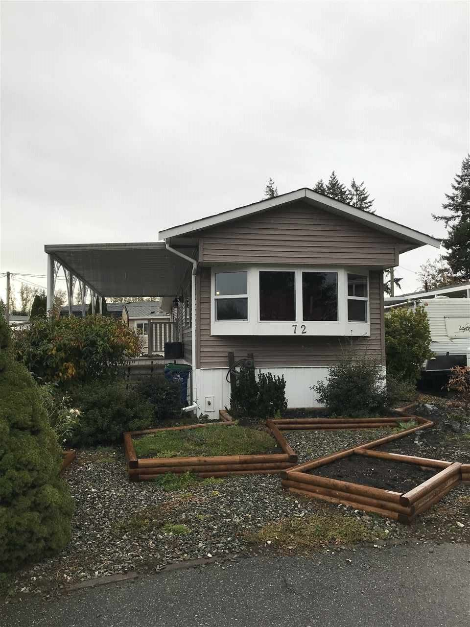 """Main Photo: 72 31313 LIVINGSTONE Avenue in Abbotsford: Abbotsford West Manufactured Home for sale in """"Paradise Park"""" : MLS®# R2414385"""