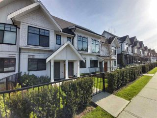 """Photo 1: 8 5122 CANADA Way in Burnaby: Burnaby Lake Townhouse for sale in """"SAVILE ROW"""" (Burnaby South)  : MLS®# R2561631"""