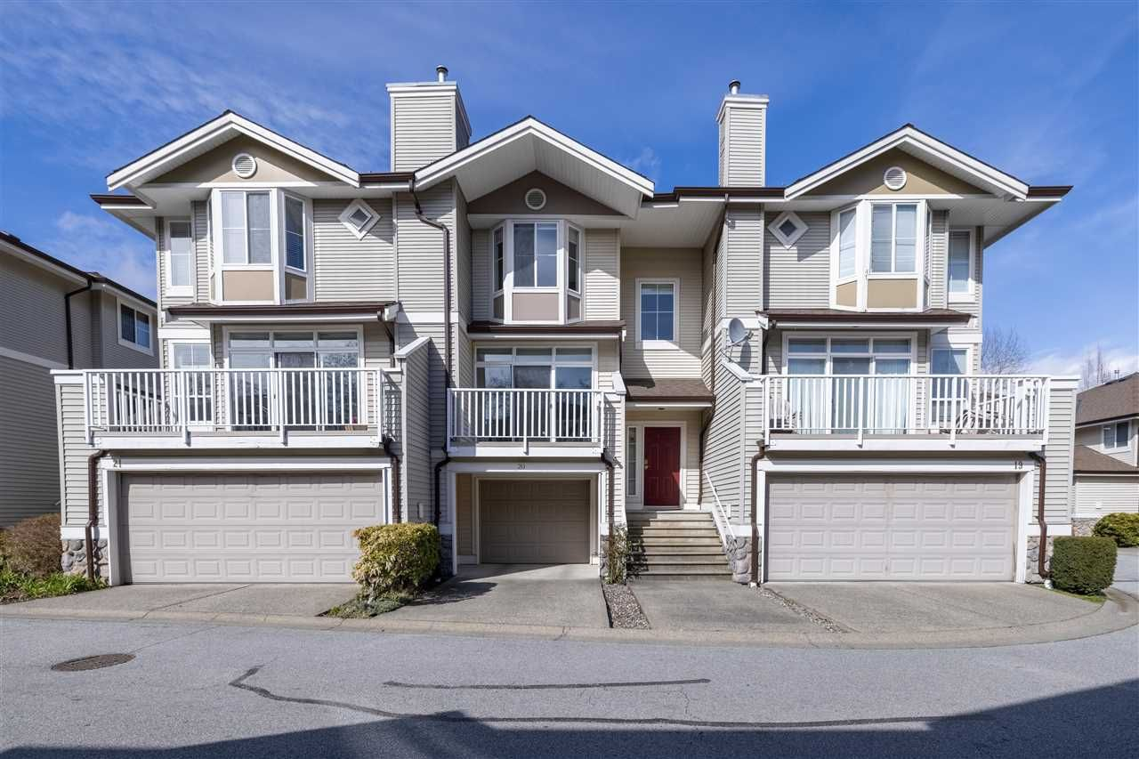 """Main Photo: 20 6950 120 Street in Surrey: West Newton Townhouse for sale in """"Cougar Creek by the Lake"""" : MLS®# R2558188"""