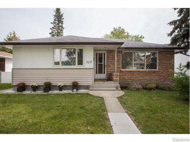 Main Photo: 325 Aldine Street in Winnipeg: Grace Hospital Residential for sale (5F)  : MLS®# 1624293