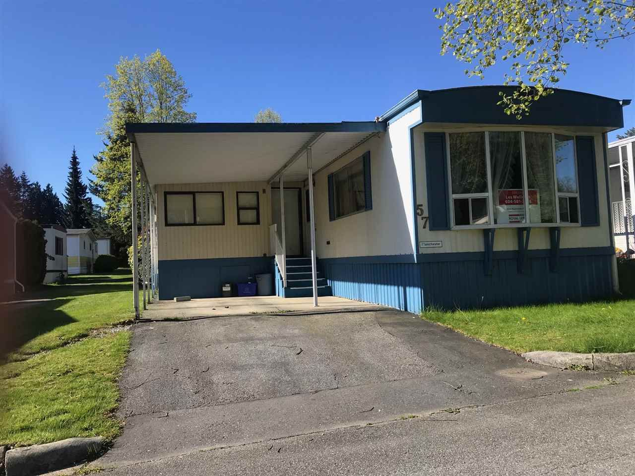 Main Photo: 57 7850 KING GEORGE BOULEVARD in : East Newton Manufactured Home for sale : MLS®# R2350605