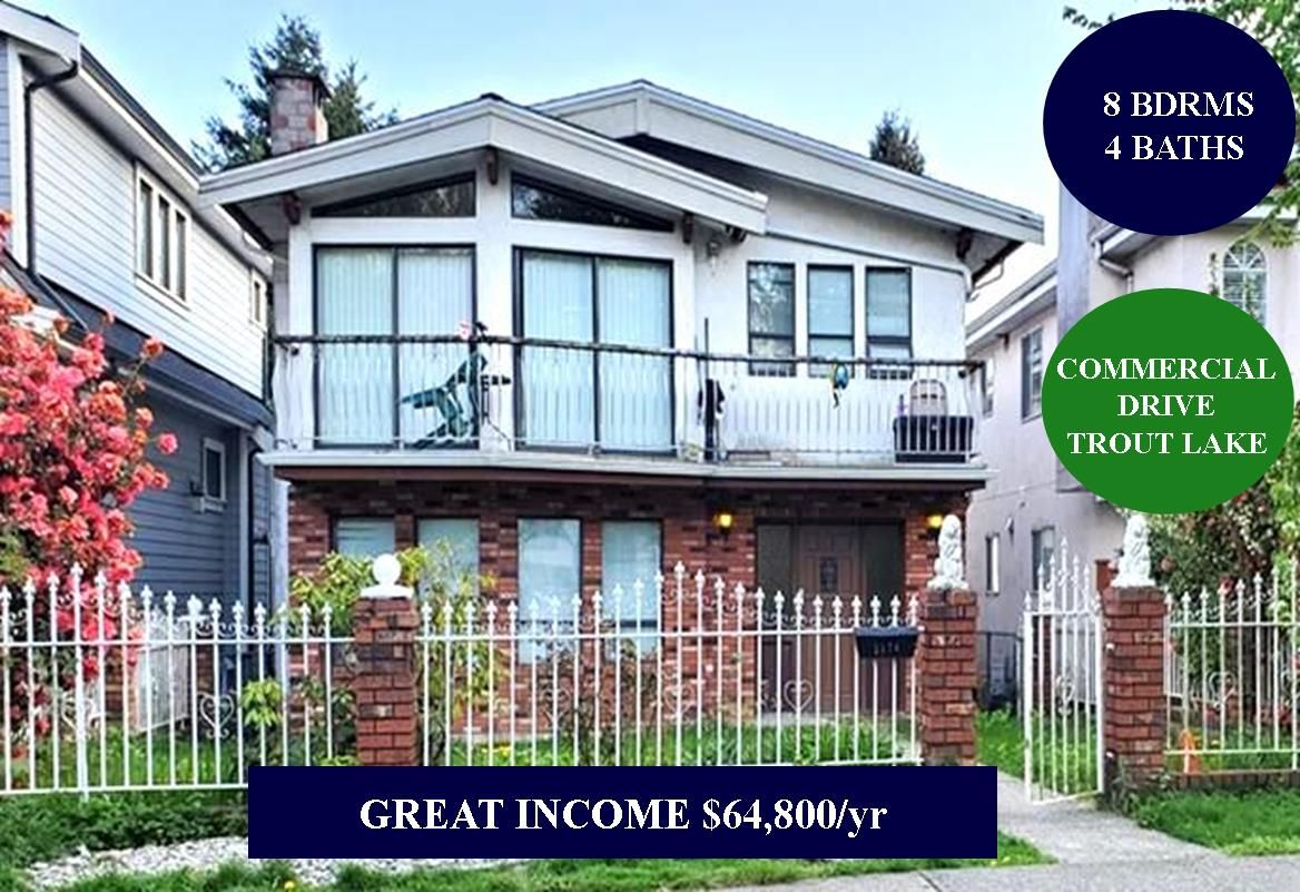 Main Photo: 2176 E 8TH Avenue in Vancouver: Grandview Woodland House for sale (Vancouver East)  : MLS®# R2453969