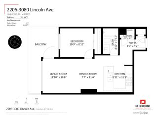 """Photo 5: 2206 3080 LINCOLN Avenue in Coquitlam: North Coquitlam Condo for sale in """"1123 Westwood"""" : MLS®# R2505842"""