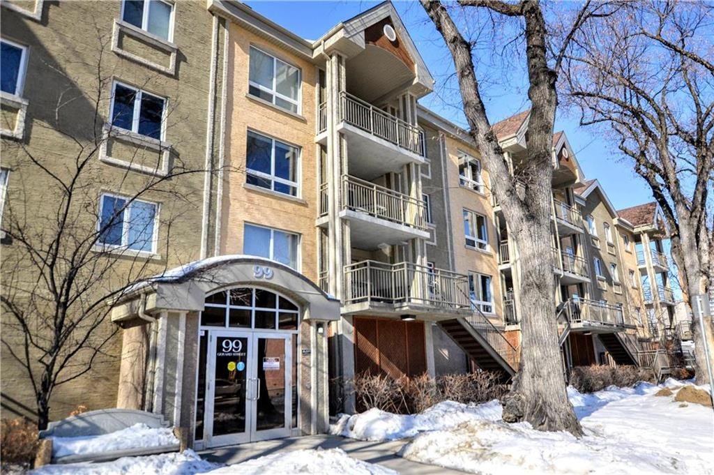 Main Photo: 312 99 Gerard Street in Winnipeg: Osborne Village Condominium for sale (1B)  : MLS®# 202006441