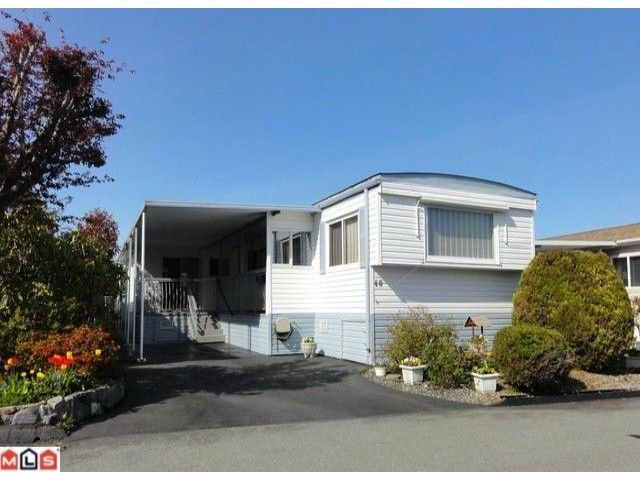 """Main Photo: 40 15875 20TH Avenue in Surrey: King George Corridor Manufactured Home for sale in """"SEA RIDGE BAYS"""" (South Surrey White Rock)  : MLS®# F1122362"""
