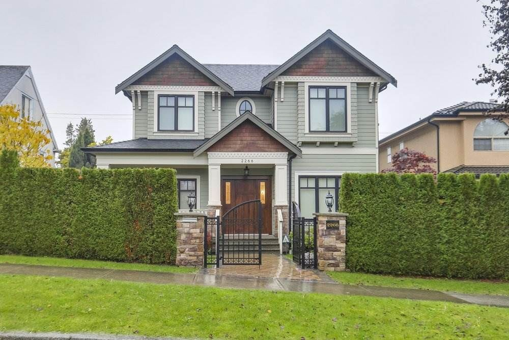 Main Photo: 2266 W 21ST Avenue in Vancouver: Arbutus House for sale (Vancouver West)  : MLS®# R2532049
