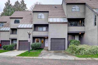 """Photo 1: 8537 WOODTRAIL Place in Burnaby: Forest Hills BN Townhouse for sale in """"SIMON FRASER VILLAGE"""" (Burnaby North)  : MLS®# R2555729"""