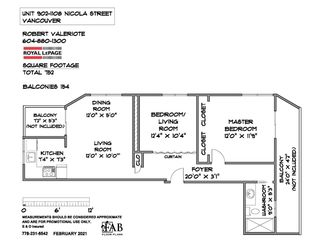 Photo 20: 902 1108 NICOLA STREET in Vancouver: West End VW Condo for sale (Vancouver West)  : MLS®# R2565027