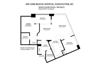 "Photo 17: 605 1006 BEACH Avenue in Vancouver: Yaletown Condo for sale in ""1000 BEACH"" (Vancouver West)  : MLS®# R2575522"