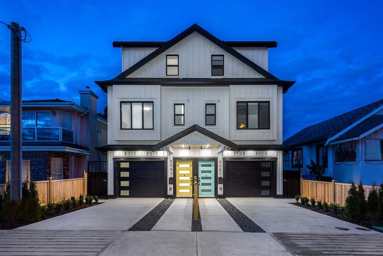 Main Photo: 2063 E 36TH Avenue in Vancouver: Victoria VE 1/2 Duplex for sale (Vancouver East)  : MLS®# R2529769