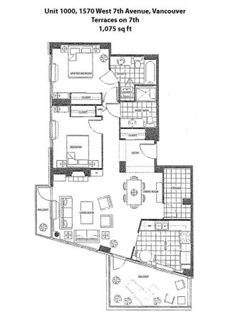 """Photo 14: 1000 1570 W 7TH Avenue in Vancouver: Fairview VW Condo for sale in """"Terraces on 7th"""" (Vancouver West)  : MLS®# R2624215"""