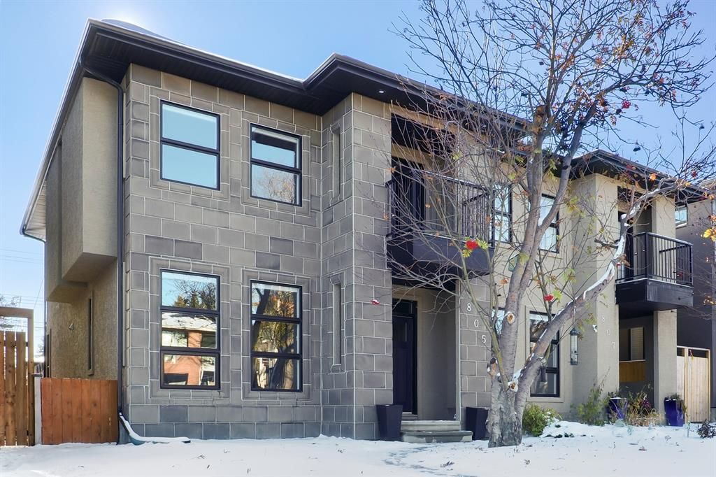 Main Photo: 805 23 Avenue NW in Calgary: Mount Pleasant Semi Detached for sale : MLS®# A1070023