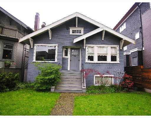 Main Photo: 1417 WALNUT Street in Vancouver: Kitsilano House for sale (Vancouver West)  : MLS®# V643911