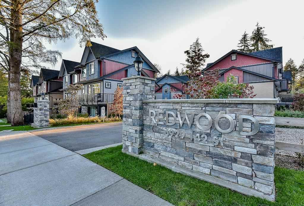 """Main Photo: 2 6929 142ND Street in Surrey: East Newton Townhouse for sale in """"REDWOOD"""" : MLS®# R2354348"""