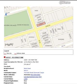 Photo 3: 10337 95 Street in Edmonton: Zone 13 Land Commercial for sale : MLS®# E4248587